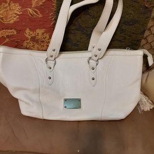 White Valentina Italia leather purse